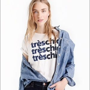 J.CREW Tres Chic T-shirt